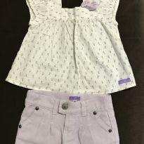 Conjunto short e blusa - 3 a 6 meses - Chicletaria