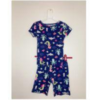 Pijama curto 3 peças sereia - 4 anos - Carter`s