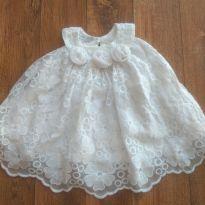 Vestido branco de renda - 3 meses - Tyrol