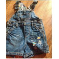 Jardineira jeans Tommy - 9 a 12 meses - Tommy Hilfiger
