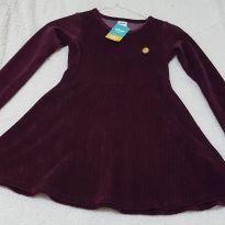 vestido aveludado - 6 anos - Elian