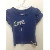Camiseta Love A - 3 anos - Não informada
