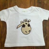 Camiseta Girafa B - 3 meses - Importada