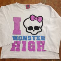 Manga Longa Monster High C - 6 anos - Monster High