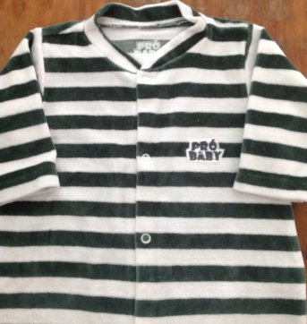 Macacão Pró Baby B - 3 a 6 meses - Pró Baby