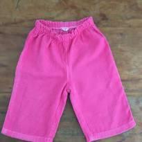 Calça Rosa Veludinho B - 3 a 6 meses - Não informada