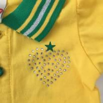 Camiseta Brasil B - 6 a 9 meses - Tip Top