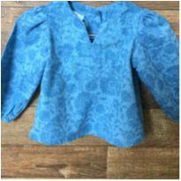 Camisa Azul D - 0 a 3 meses - Não informada