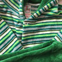 Conjunto Veludo Verde A - 3 meses - Não informada