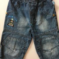 Calça Jeans Racing D - 3 a 6 meses - Não informada