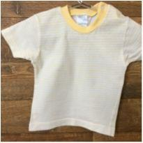 Camiseta Listrada Amarela D - 3 meses - Baby fashion