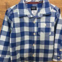 Camisa Xadrez Azul E - 18 meses - Carter`s
