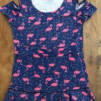 Conjunto Malwee Flamingos F - 10 anos - Malwee