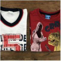 Kit Camiseta Dinos A - 4 anos - Não informada