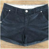 Shorts Veludo Preto A - 6 anos - Zara Girls