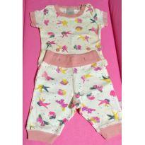 Pijama que brilha no escuro - 0 a 3 meses - PUC