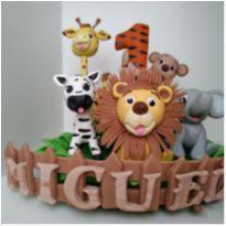 Vela de biscuit - Safari Baby -  - Biscuit e Shalon Arte Biscuit