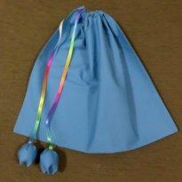 Saquinho organizador azul - Sem faixa etaria - Artesanal