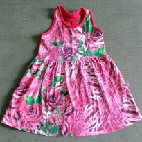 Vestido floral vermelho - 2 anos - Brandili
