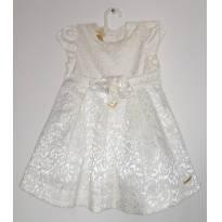 Vestido Baby off white - 9 meses - GiraBaby
