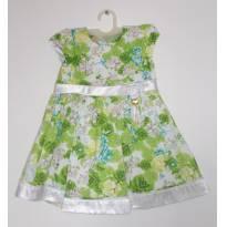 Vestido floral verde - 9 meses - GiraBaby