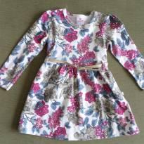 Vestido manga longa Florido - 2 anos - Brandili
