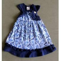 Vestido rosas azul - 2 anos - Angerô