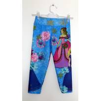 Calça legging azul estampa - 8 anos - Biawi Collection