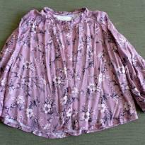 Camisa manga longa flores - 4 anos - Zara Baby