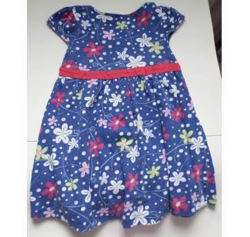 Vestido florido azul - 4 anos - polegar