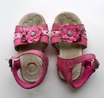 Sandália Pink com Flor e Strass - 23 - Sem marca