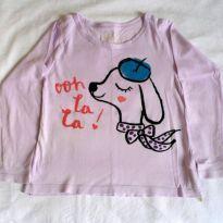 Blusa manga longa lilás - 3 anos - OshKosh