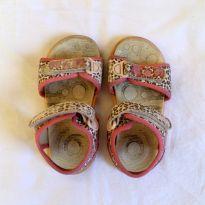 Sandália Infantil Velcro Oncinha - 23 - Klin