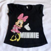 Camiseta preta Minnie - 4 anos - Disney