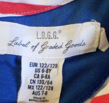 Vestido listrado - 6 anos - Label graded goods