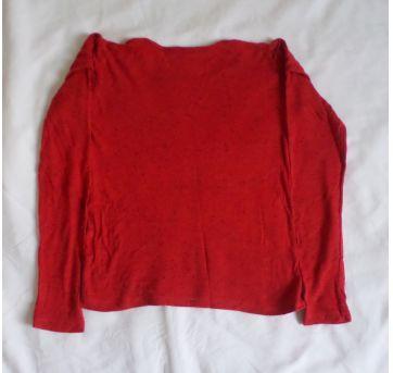 Blusa manga longa vermelha - 4 anos - Sem marca