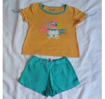 Pijama curto Gatinho - 4 anos - Hering Kids