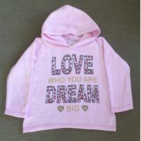 Blusa de moletom Rosa bebê Love - 8 anos - Popin