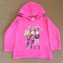 Blusa de moletom Pink Meninas - 8 anos - Popin