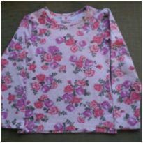 Blusa manga longa florida - 4 anos - Brandili
