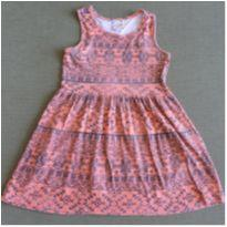 Vestido Laranja e Preto - 4 anos - Brandili