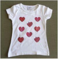 Camiseta corações - 6 anos - Cara Metade