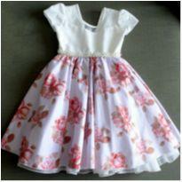 Vestido luxo floral - 6 anos - Giovanella