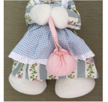 Coelha de Pelúcia decorativa em pé - Sem faixa etaria - Sem marca