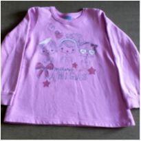 Blusa de moletom lilás Meninas - 6 anos - Malwee