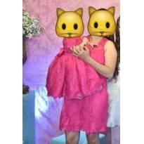 Vestido mãe e filha - 12 a 18 meses - Não informada