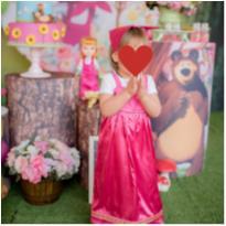 Fantasia Masha e o Urso Roupa Menina 2 anos Vestido - 2 anos - Feito à mão