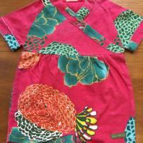 Macacão Rosa Florido - 3 a 6 meses - Green