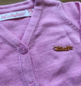 Cardigan rosa claro - 3 a 6 meses - Lilica Ripilica e Lilica Ripilica Baby