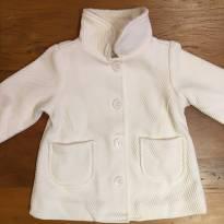 Casaco branco com botões - 9 a 12 meses - Tyrol